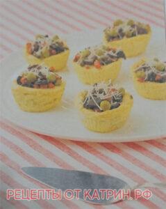 Картофельные гнезда с грибами на горячее