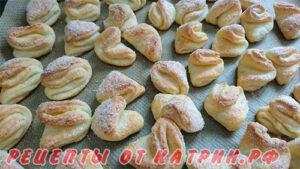 Творожное печенье лапки гусинные